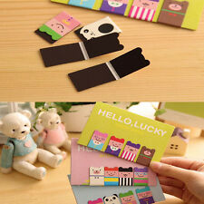 Beautiful 4 Pcs Bookmarks Note Pad Memo Stationery Book Mark Novelty Funny Gift