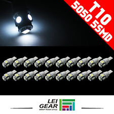 10x T10 W5W 168 194 5050 5SMD White LED Car Light Tail Side Lamp Bulbs DC 12V