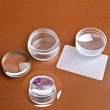 Nail Art Round Silicone Stamper Stamping Transfer Image Scraper Plate Templates