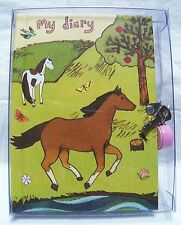 Horse Friends Diary - 192  Pages/Padlock