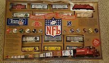 Mantua NFL Super Bowl Express HO Scale Train Set Complete and tested