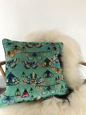 Designers guild new issoria tissu velours coussin papillons christian lacroix