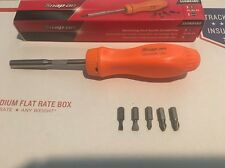 Boxed Snap On Orange Smooth Action Ratcheting Screwdriver