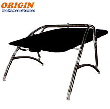Origin Challenger Wakeboard Tower Black Coated plus Flat Boat Tower Bimini