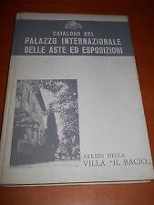 """catalogo Palazzo internazionale aste esposizioni - arredi della villa """"Il Bacio"""""""