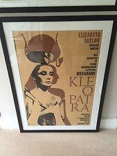 Rare Cleopatra Kleopatra Original Polish Movie Film Poster 1963 Framed & Mounted