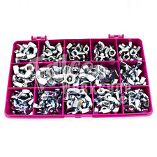 80 ASSORTED PIECE ZINC BZP WING NUTS M3 M4 M5 M6 M8 WINGNUTS BUTTERFLY KIT