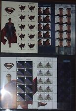 SUPERMAN MAN OF STEEL (2013) JERSEY STAMPS FULL SET OF 6 SHEETS NEW UNUSUAL MNH