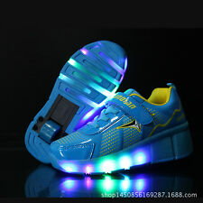 LED Kids Hee Jazzy Juni Girls Boys led Light up Roller Skate Shoes Size Hot