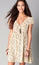 NWT RALPH LAUREN DENIM & SUPPLY LADYS FLORAL BUTTON FRONT COTTON DRESS SIZE XS