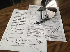 Instructions & templates for installation of 1955 1956 1957 Chevrolet mirrors
