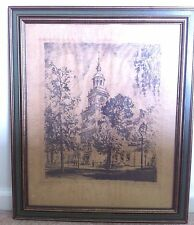 Herbert Pullinger SIGNED dated 1921 Philadelphia Independence Hall Lithograph