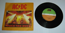 "AC/DC Touch Too Much 7"" Single A1 B1 Pressing - VG"