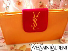 100% Autentico Ltd Edtn YSL COUTURE Seta di Raso & velvet clutch evening BAG & specchio