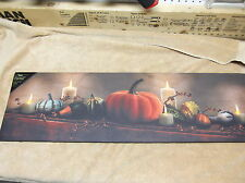 Harvest Display Pumpkins Gourd Fall Mantel Lighted Canvas Wall Decor Sign