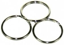 100 x 20mm NICKEL STEEL SPLIT RINGS,KEYRINGS,CONNECTOR.