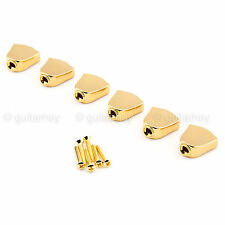 NEW - (6) Keystone Tuners Buttons & Screws for Gotoh Machine Heads - GOLD #04