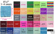 "NEW Girls  8"" X 7"" girl Crochet Headbands TUTU Top Lot of 10  size 4-6 years"