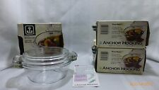 Vintage Anchor Hocking Oven Basics Casseroles with Lids in Original Boxes 3 Pcs