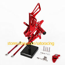 CNC Rear Sets Foot Pegs For Honda CBR600RR 2007-2014 2008 2009 2010 2011 Red