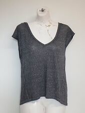 Women Top Grey X Large Cap Sleeves Open Back Map To Mars Shirt size xl