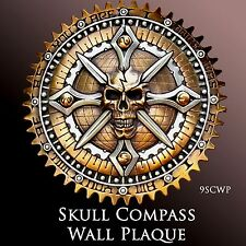 Skull Compass Wall Plaque from Zambini Bros 9SCWP Drifter, Harley, Indian,V-Star