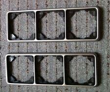 2 Stück Jung CD 500 PL Platin (Alu/Silberfarben) 3 fach Rahmen