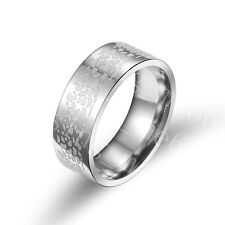 Stainles Steel Ring Band Silver Spot Wedding Anniversary Birthday Gift Size 6-12