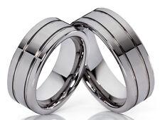 2 Wolfram Fedi Nuziali Anello di fidanzamento con incisione