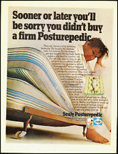 1968 Vintage ad for Sealy Posturepedic Mattress/Sleepy man in ad (040713)