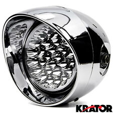Chrome LED Headlight For Kawasaki VN Vulcan Classic MeanStreak Nomad 1600