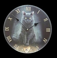 "Cat Clock Lisa Parker ""His Masters Voice"" Cat 30cm Wall Clock-Boxed/Cello Front"