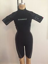 Women's Black CAMARO Lipstick Shorty 2MM All Season Wetsuit 40 Small NWT