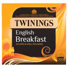 Twinings English Breakfast 200 TEABAGS-venduti in tutto il mondo dall' Inghilterra UK