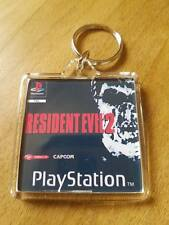RESIDENT EVIL 2 PLAYSTATION psx retro  KEYRING gaming ps1