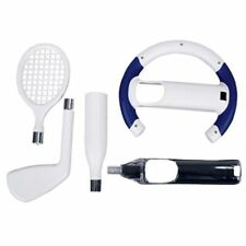 5 SPORT PACK FOR NINTENDO WII REMOTE BASEBALL GOLF TENNIS DRIVING RACING WHEEL