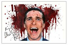 CHRISTIAN BALE AMERICAN PSYCHO SIGNED AUTOGRAPH PHOTO PRINT