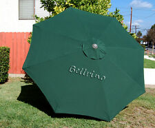 GREEN Umbrella Canopy 9 FT 6 Ribs Top Patio Market Replacement Cover x