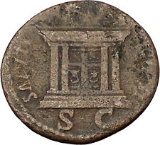 DOMITIAN 85AD RARE Authentic  Ancient Roman Coin Altar i46108