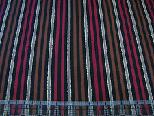 3 Yards Quilt Cotton Fabric- QT Open Road Indian Motorcycles Stripe Brown Red