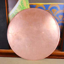 Antique Copper Bowl Shallow Dish Weight Scale Pan Vintage