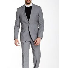 "$1,095 +Tax HUGO BOSS ""kings/central1"" Gray Striped Suit **Double Pocket** 38R"