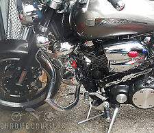 Yamaha XV1700 RoadStar Warrior Engine Crash Bar Guard with built in Highway Pegs