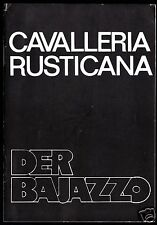 Theaterprogramm, Komische Oper Berlin, Der Bajazzo, 1988