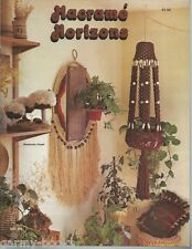 Macrame Horizons Vintage Pattern Instruction Book 1977 Plant Hangers Clock NEW
