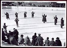 jeux Olympiques de Berlin 1936. Arbitres au patinage artistique . photogravure