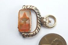 ANTIQUE GEORGIAN PERIOD ENGLISH GOLD CARNELIAN URN SEAL SPINNER FOB c1800