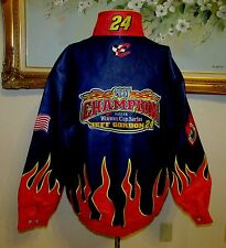 NWT JEFF HAMILTON JEFF GORDON SZ XXL CHAMPION NASCAR WINSTON CUP LEATHER JACKET