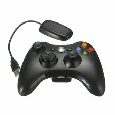 NERO GAMEPAD WIRELESS GAME REMOTE CONTROLLER PER XBOX 360 CONSOLE+PC RECEIVER