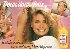 PUBLICITE ADVERTISING 104  1980  DOP FREQUENCE   shampoing doux ( 2 p)